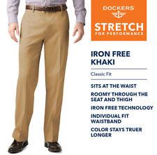 Dockers D3 Mens Iron-Free Khaki Classic-Fit Flat-Front 46965-0007 770328e368c