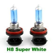 2 Pcs H8  Halogen Xenon Lamp 6000K Low Beam 12V 35W New Super White Light Bulbs