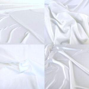 9m T-Shirt u Kleider JERSEY weiß weicher elastischer Polyester-Stoff Meterware