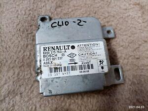 Renault Clio II Phase 2 2005 Airbag Steuergerät 8200375763 BOSCH 0285001537