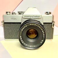 Mamiya / Sekor 500 DTL 35mm SLR Camera + 50mm F2 Lens Film Tested! Working Meter