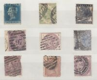 GB QV Collection of 9 To 1/- All Different X9981