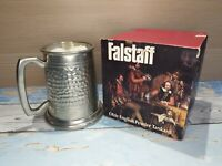 Vintage Falstaff Olde English Pewter Tankard Hand Crafter In Sheffield UK Boxed