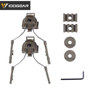 IDOGEAR Tactical Helmet Rail Adapter Set Peltor Ops-Core Helmet ARC Rail Wargame