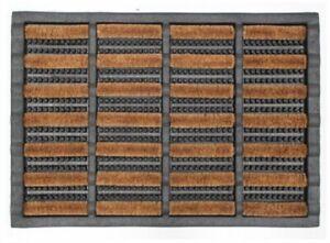New Bayliss Rugs Door Mat Rod Rubber Coir Wire Doormat Heavy duty 40cm x 60cm