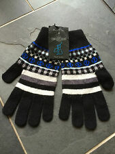 Paul Azul Fairisle Guantes - 100 Smith% Lana-Bnwt