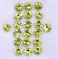 4.85 Cts Natural Peridot Round Cut 3.50 mm Lot 25 Pcs Lustrous Loose Gemstones