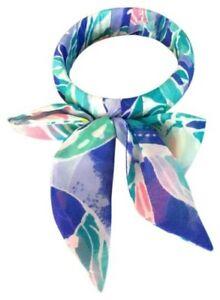 NWT Lilly Pulitzer Bennett Blue Celestial Seas Fabric Wrapped Bangle Bracelet