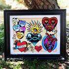 Hearts! Tattoo Flash Art Print   Neo-Traditional / Sailor Jerry