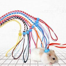Adjustable Pet Leash Harness Cotton Rope Lead Collars For Rats Mouse Hamsters