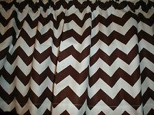 Brown White Chevron Zig Zag Bedroom Kitchen Window Valance Decor