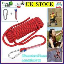 Heavy Duty Climbing Rope Cord 10m 12mm 2100kg for Outdoor Use Emergency