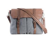 Brunello Cucinelli Grey Brown Travel Shoulder Leather Messenger Bag~RTL$2995