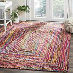 Rug Natural Jute and Cotton handmade Reversible living area carpet runner rug