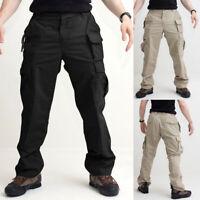 Men's Multi-Pocket Cargo Combat Overalls Long Pant Trouser Loose Casual Bottoms