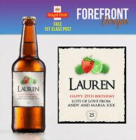 Personalised Fruit Cider bottle label, Perfect Birthday/Wedding/Graduation Gift