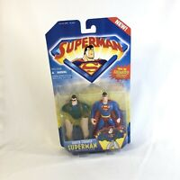SUPERMAN QUICK CHANGE OUTFIT ACTION FIGURE ANIMATED Hasbro Kenner 1996 Dc JLA