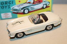 CORGI TOYS * MERCEDES 300 SL ROADSTER * THE SAINT * UNIKAT * CODE 3