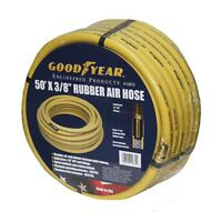 "Good Year 50' x 3/8"" 250 PSI Rubber 12672 Air Compressor Hose Goodyear USA Made"
