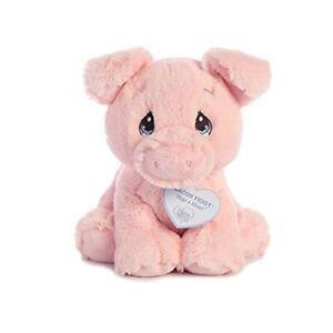 "8.5"" Precious Moments Pig - Bacon Piggy Aurora Stuffed Animal Fun Toy Play Plus"