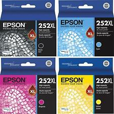 2018 Genuine EPSON 252 252XL Black Color Ink Workforce 7610 7620 7110 3620 3640