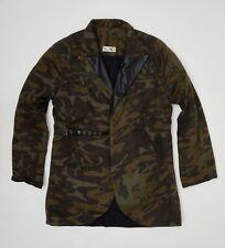 Camouflage Blazer with leather detail - Indie Designer - SLAVA - 38/40