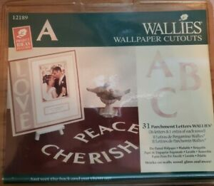"""Wallies """"31 Parchment Letters"""" Pre-Paste Wallpaper Wallies"""