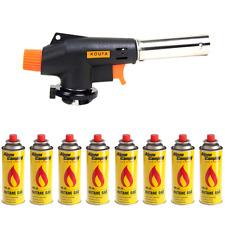 BRUCIATORE a gas Bunsen fiamma ossidrica lötbrenner gasanzünder + 8 gaskartusche...