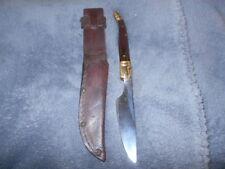 HAND MADE KNIFE AND MANUFACTORED SHEATH-9 INCHES RAZOR SHARP
