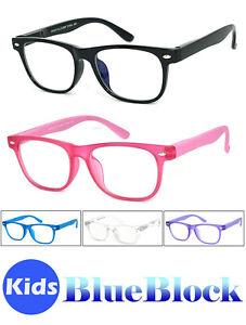 Kids Square Frame Blue Light Blocking Glasses Computer Reading Anti Eye Strain
