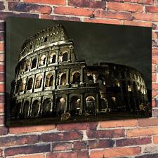"""Il COLOSSEO DI NOTTE STAMPA FOTO SU TELA A1.30""""x20""""30mm Deep Wall Art ROMA"""