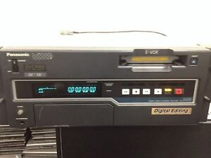Panasonic AJ-D455P DVCPRO Digital VCR With Option 2 and Remote Cable Working