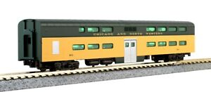 New Kato N Scale Pullman Bi-Level Coach-Buffet C&NW #903 From 106-104