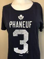 Ladies Size Large T-Shirt Phaneuf #3 Toronto Maple Leafs NHL Reebok NHLPA