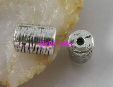 60 Pcs Tibetan silver tube spacers beads 8x6mm A8024
