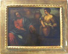 Cristo e la Samaritana al pozzo Olio su tavola cm 43x59 Lombardia XVI sec. '500