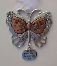 aa You are beautiful inside & out butterfly LIVE HAPPY ORNAMENT Ganz