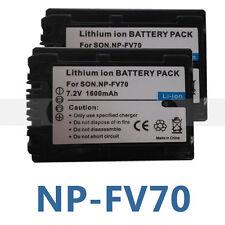 2X NP-FV50 Battery for SONY Camcorder Handycam NP-FV30 NP-FV70 FV100 DCR-DVD105
