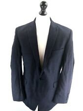 BEN SHERMAN Mens Blazer Suit Jacket 42R Navy Blue Pinstripes Wool