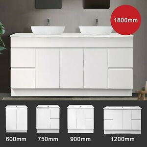 Bathroom Vanity Cabinet 600 750 900 1200 1500 1800mm Finger Floor Free Standing