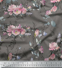 Soimoi Fabric Blossom & Peony Floral Printed Craft Fabric by the Meter - FL-137D