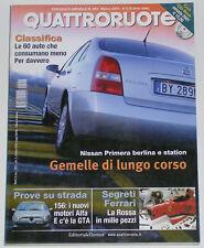 QUATTRORUOTE 3/2002 ALFA ROMEO 156 JTS / 2.4 JTD – HONDA JAZZ 1.2 – VOLVO V70 D5