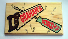 Personalised Workshop Plaque / Sign - Saw Dad Shed Grandad Tools Fathers Day