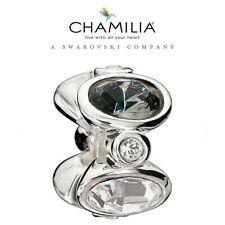 66% OFF Genuine CHAMILIA 925 Silver Grey Swarovski  Majestic Charm RRP £60