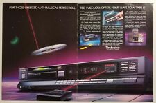 1986 Print Ad Technics CD Compact Disc Players with FM Tuner SL-P500