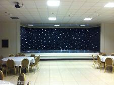 6m x 3m DMX nero tessuto starcloth LED BIANCHI 6x3 LED STAR Panno Scintillanti