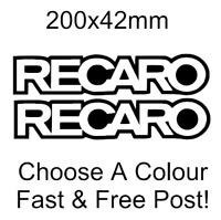 Recaro sticker logo decal car van bumper pair x2 funny