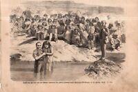 1875 Leslies illustrated June 5 - Mormons baptise Indians  at St. George Utah