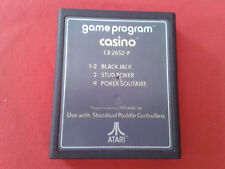 CASINO GAME PROGRAM CX-2652-P POKER BLACK JACK CARTUCHO SÓLO ATARI 2600