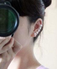 Fashion Silver Wrap Cuff Clip Earring Rhinestone Crystal Shiny 5 starts Ear Ring